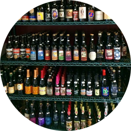 beers on display