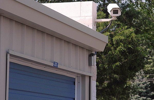 Storage unit with surveillance camera & Twin Creek Rentals LLC | Storage and Buildings | Tupelo MS