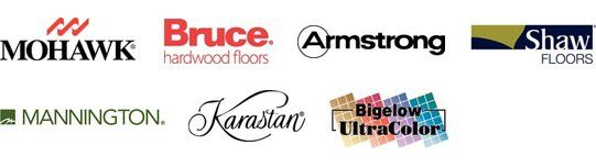 Mohawk, Bruce Hardwood Floors, Armstrong, Shaw Floors, Mannington, Karastan, Bigelow Ultracolor