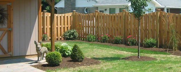 One of our fence installation projects in Tripp City, OH