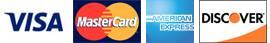 Visa, Master Card, American Express and Discover Logos