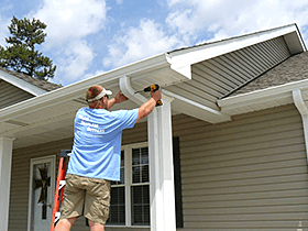 Home gutter installation