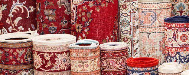 varieties of rugs display