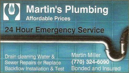 Martin's Plumbing