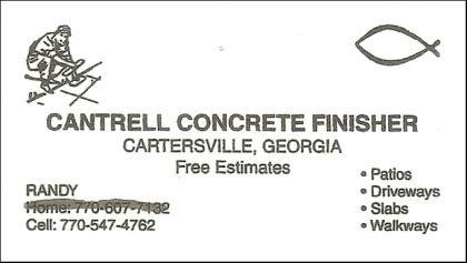 Cantrell Concrete Finisher