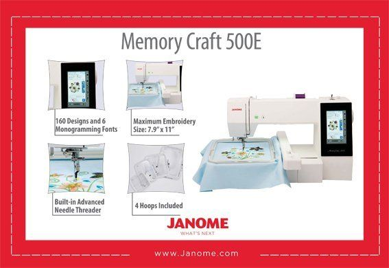 Janome - Memory Craft 500E