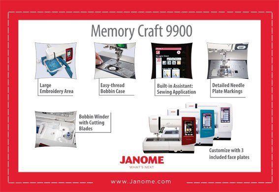 Janome Memory Craft 9900