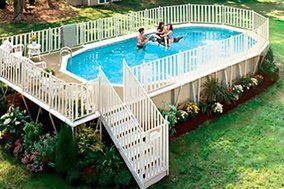 Pool decks and fences
