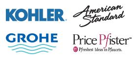 Kohler | American Standard | Grohe | Price Pfister