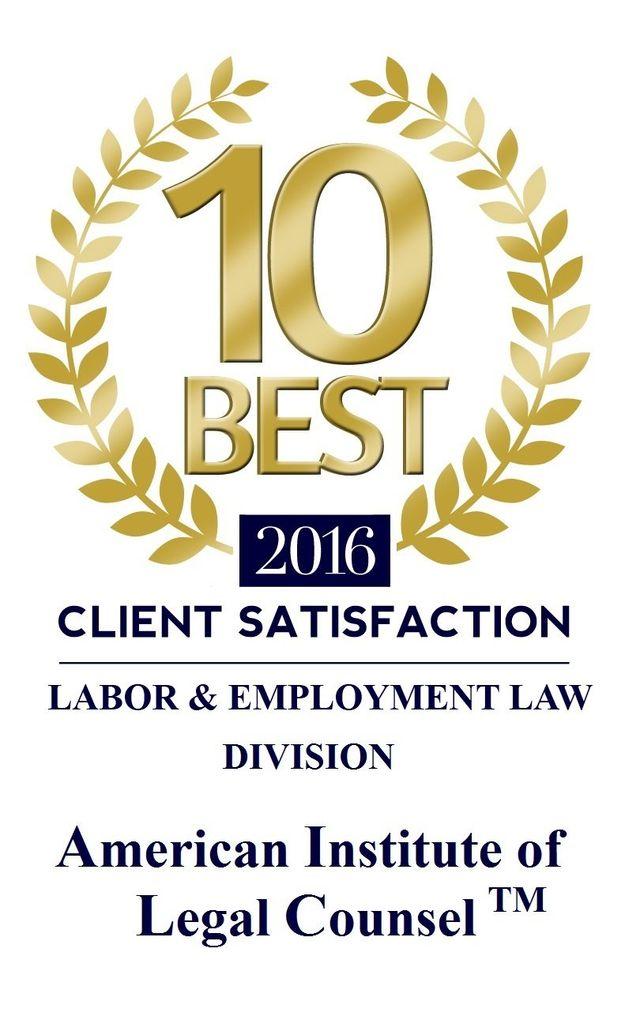 10 Best 2016 Client Satisfaction