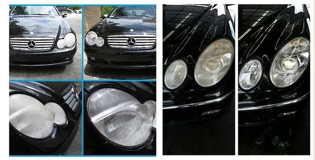 how to clean auto headlight lenses