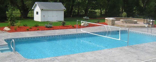 Inground swimming pools custom inground pools inground for Pool design omaha