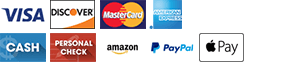 Visa | Discover | MasterCard | Amex | Cash  | Paypal | Apple Pay
