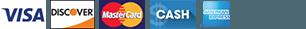 Visa Discover MasterCard Cash Amex