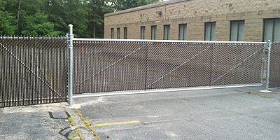 Chain-link security fence