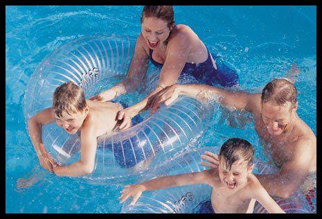 enjoying in Pool