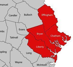 Savannah Termite and Pest Control | Service Area Map
