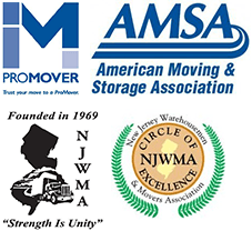 ProMover, AMSA, NJWMA, and organization logos