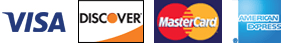 Visa, Discover, MasterCard & American Express