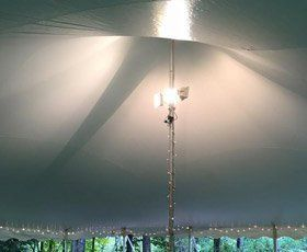 Tent interior lighting