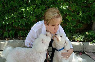 Joni with pups