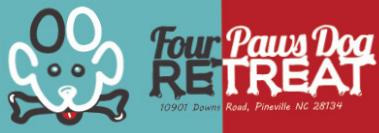Four Paws Dog Retreat - Logo