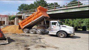 Asphalt hauling