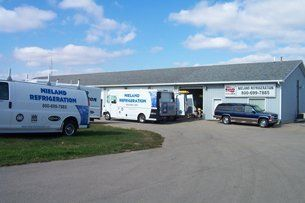 Nieland Refrigeration office and service trucks