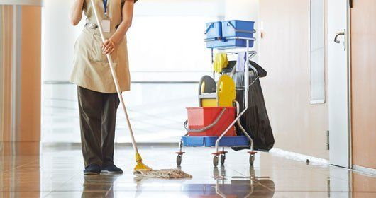 Office floor mopping