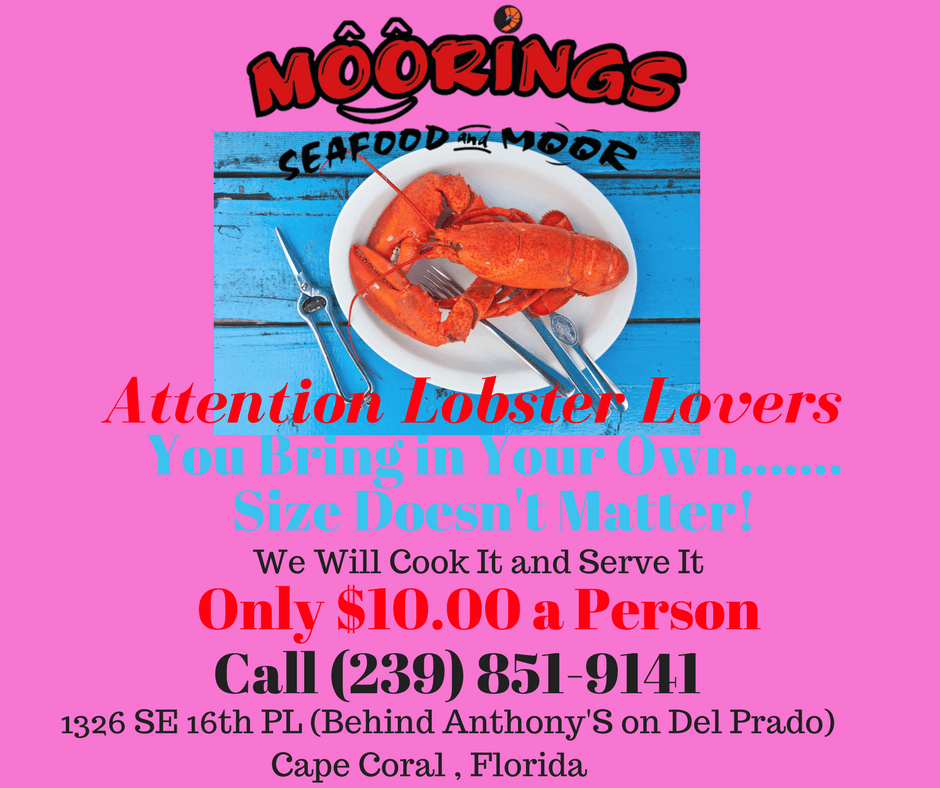 Lobster Lovers $10.00 a person