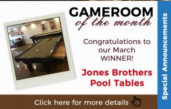 Jones Brothers Pool Tables Is Proud Of This Achievment And Encourage  Everyone To Check Out The Photos At Www.Olhausenbilliards.com