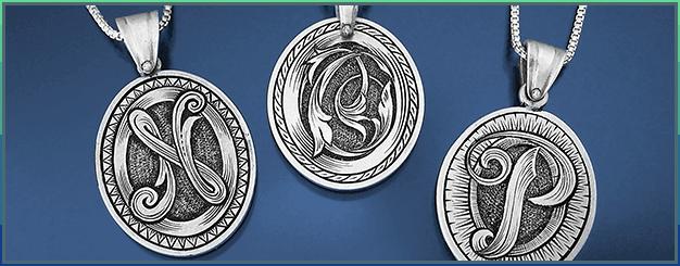 Engraved pendants