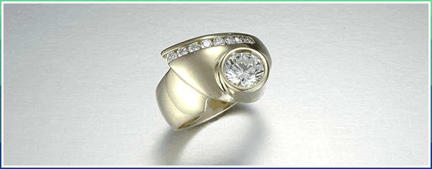 Diamond Channel ring