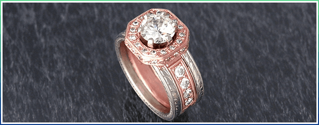 Rose & white gold custom design
