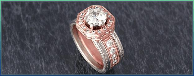 Rose & white gold custom design
