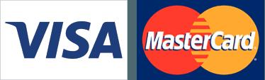 Visa, MasterCard logos