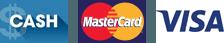 Cash, MasterCard, Visa