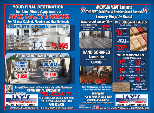 Jayu0027s Floors And More Specials