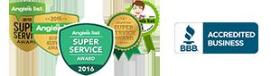 BBB, Angie's List Super Service Award 2016