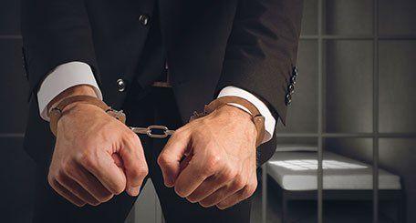 Man in handcuff
