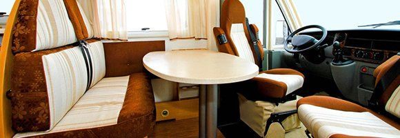 Clean interior of a recreational vehicle