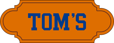 Tom's Men's Shop logo