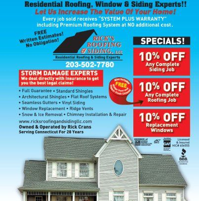 Rick S Roofing Amp Siding Llc Coupons Milford Ct