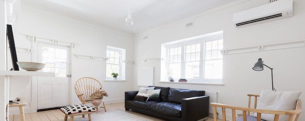 air conditioning unit in a modern living room