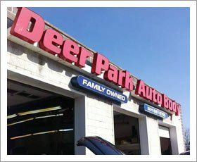 Deer Park Auto Body shop sign