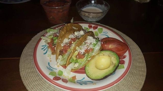 Food topped with Mexican cheese