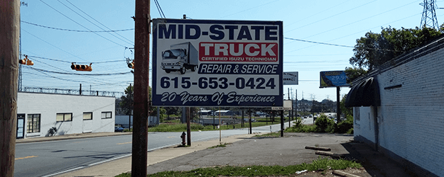 Mid-State Truck Sign Board