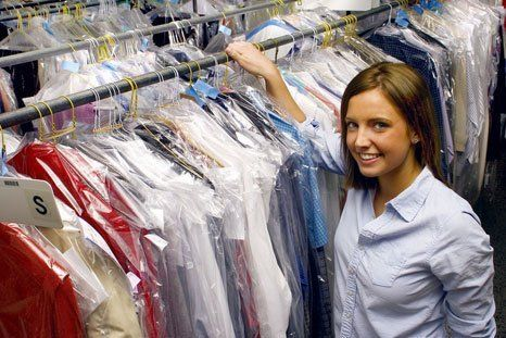 Dry cleaning staff