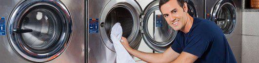 Washing machine at laundromat