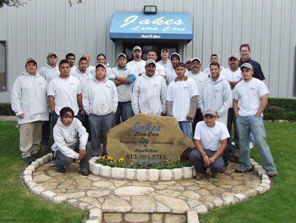 Jake's Lawn Care staff members